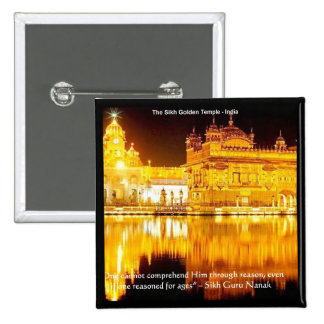 Sikh The Golden Temple In India Gifts & Tees Button