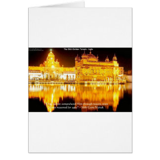 Sikh The Golden Temple In India Gifts & Tees Greeting Card