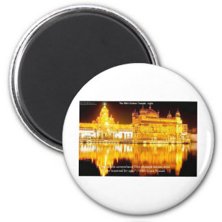 Sikh The Golden Temple In India Gifts & Tees Magnet