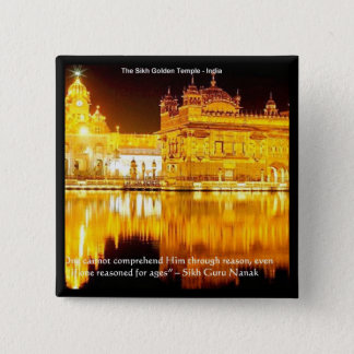 Sikh The Golden Temple In India Gifts & Tees Pinback Button