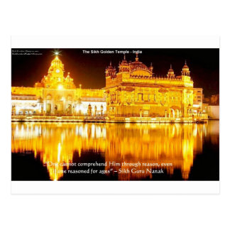Sikh The Golden Temple In India Gifts & Tees Post Card