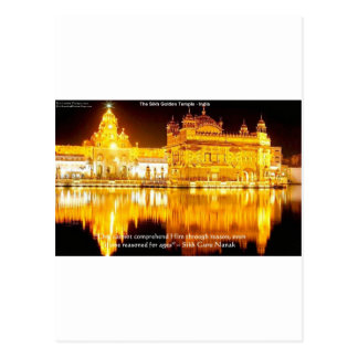 Sikh The Golden Temple In India Gifts & Tees Postcard