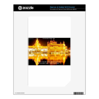 Sikh The Golden Temple In India Gifts & Tees NOOK Color Decals