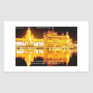 Sikh The Golden Temple In India Gifts & Tees Rectangle Stickers