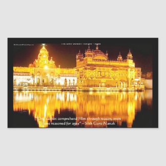 Sikh The Golden Temple In India Gifts & Tees Sticker