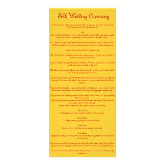 Sikh Wedding Personalized Rack Card