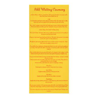 Sikh Wedding Rack Card