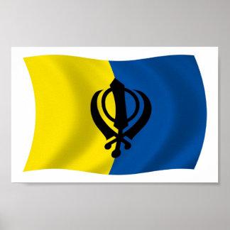 Sikhism Flag Poster Print