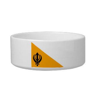 Sikhism santo sikh Nishan Sahib de la bandera de Comedero Para Mascota