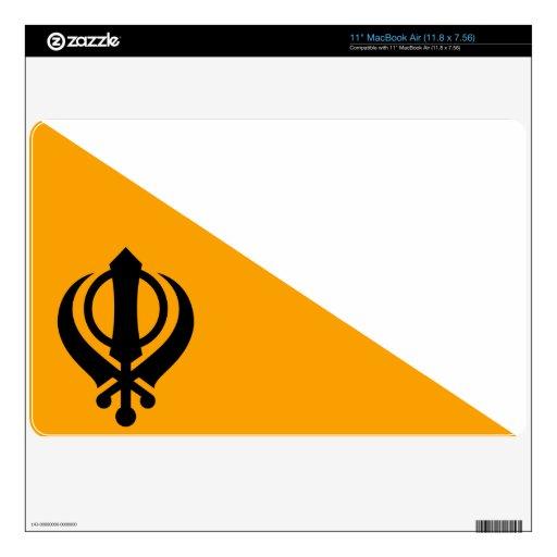 Sikhism santo sikh Nishan Sahib de la bandera de MacBook Air 27,9cm Skin