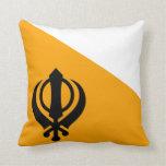 Sikhism santo sikh Nishan Sahib de la bandera de P Almohada