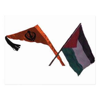 Sikhs para Palestina Tarjeta Postal