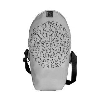Silabario cherokee de la lengua bolsas de mensajeria
