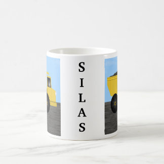 Silas Dump Truck Personalized Name Mug