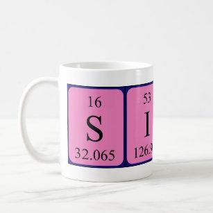 Periodic table coffee travel mugs zazzle silas periodic table name mug urtaz Choice Image