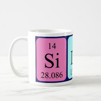 Silas periodic table name mug