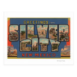 Silber City, New Mexico - Large Letter Scenes Postcard