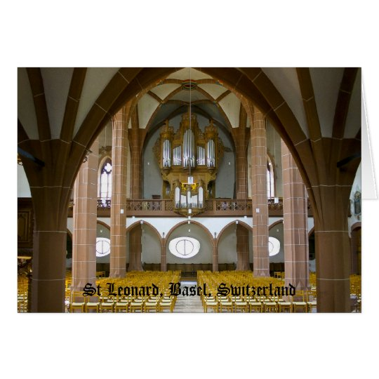Silbermann organ in Basel, Switzerland Card