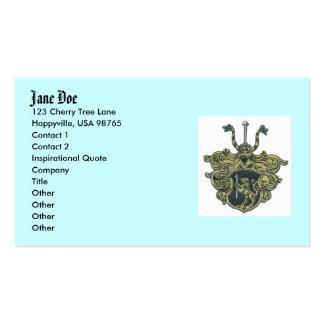 silbernagelcoatofarms, Jane Doe, 123 Cherry Tre... Business Card Templates