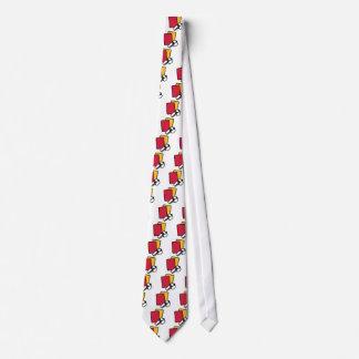 Silbido rojo de la tarjeta amarilla del árbitro corbata personalizada