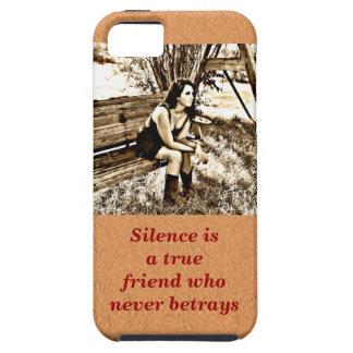 Silence a true friend iPhone 5/5S case