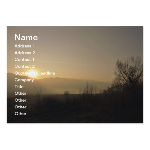 Silence Business Card Templates