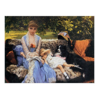 Silence by James Tissot Poster