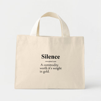 Silence Definition Canvas Bags