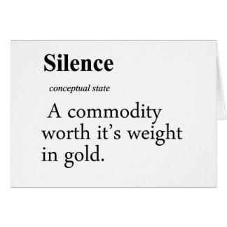 Silence Definition Card