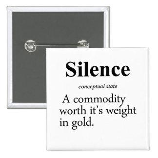 Silence Definition Pinback Button