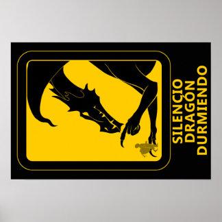 Silence dragoon sleeping poster