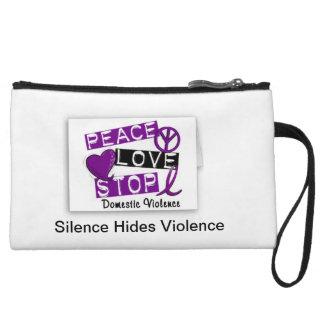 Silence Hides Violence Wristlet Wallet