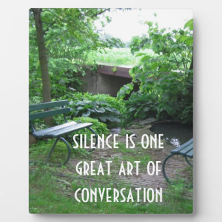 Silence in Conversation Plaque