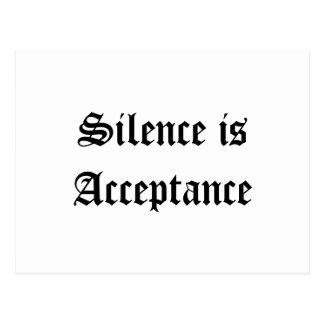 Silence is Acceptance Postcard
