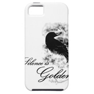 Silence is Golden - Black Bird iPhone 5 Covers