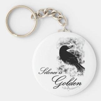 Silence is Golden - Black Bird Key Chain