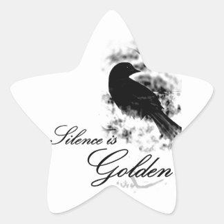 Silence is Golden - Black Bird Stickers