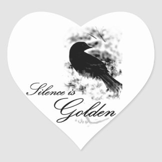 Silence is Golden - Black Bird Sticker