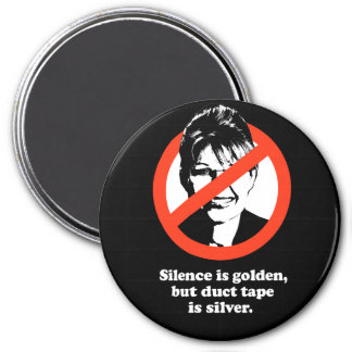 Silence is golden, but duct tape is silver magnets