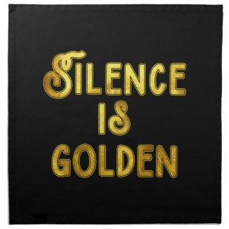 Silence is Golden Cloth Napkin