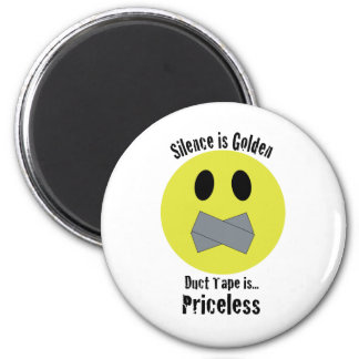 Silence is Golden Duct Tape is Priceless Fridge Magnets