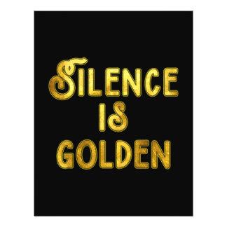 Silence is Golden Flyer