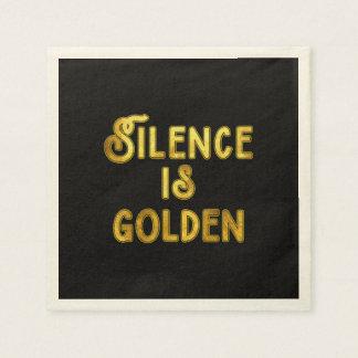 Silence is Golden Paper Napkin