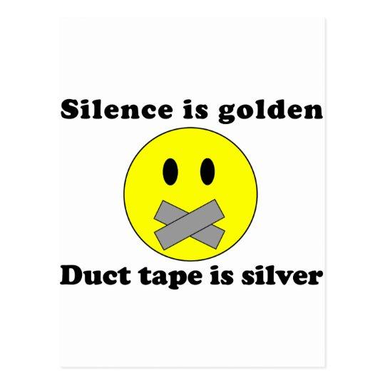 Silence Is Golden Postcard