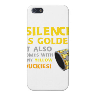 Silence Is Golden Rubber Ducky Duct Tape Humor iPhone SE/5/5s Cover