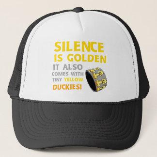 Silence Is Golden Rubber Ducky Duct Tape Humor Trucker Hat