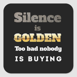 Silence is Golden Stickers