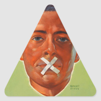 Silence is Golden Triangle Sticker