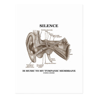 Silence Is Music To My Tympanic Membrane Postcard