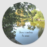 Silence is sometimes the answer. sticker